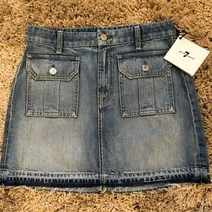 7 for all mankind, Jeans skirt